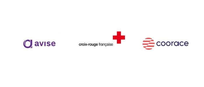 logo avise, croix-rouge française, coorace